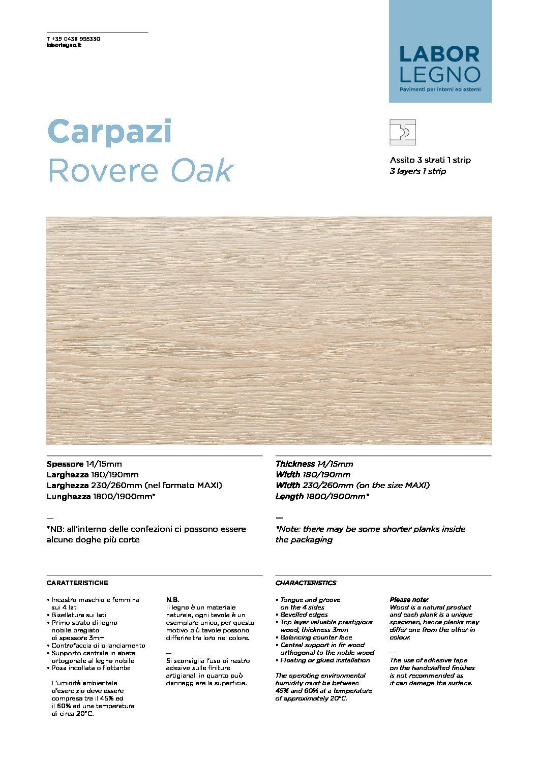 Pavimento A Incastro Per Esterni carpazi - labor legno